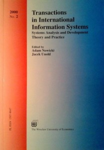 red.Adam Nowicki Jacek Unold, Transactions in International Information Systems No.2