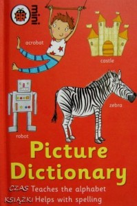 Picture Dictionary, Teaches the alphabet, Helps with spelling