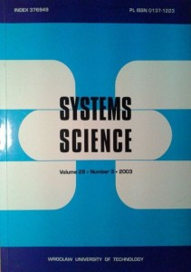 red.Adam Grzech, Systems Science vol.29 Number 3/2003