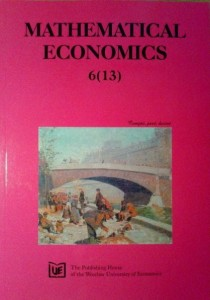 Mathematical Economics, 6 (13) 2010